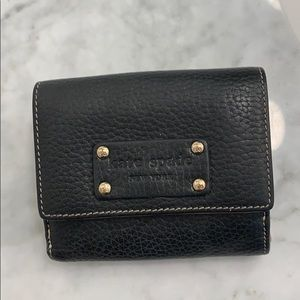 Kate spade black and gold wallet